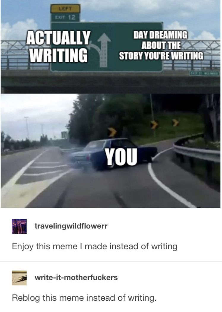 scrolling through Pinterest instead of writing